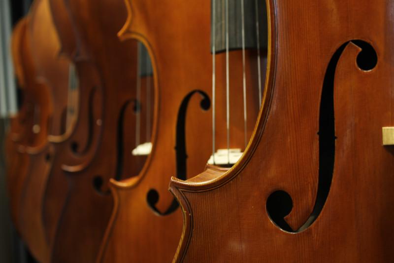 Do que é feito o violino.