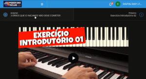 Curso de teclado - O poder das teclas, exercício introdutório.